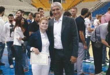 Χριστίνα Στασινού: Παρέλαβε το δίπλωμα προπονητή καλαθοσφαίρισης