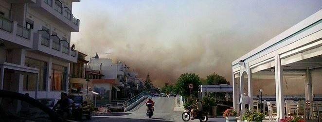 Συγκλονιστικές εικόνες από τη φωτιά στη Λακωνία – ΒΙΝΤΕΟ