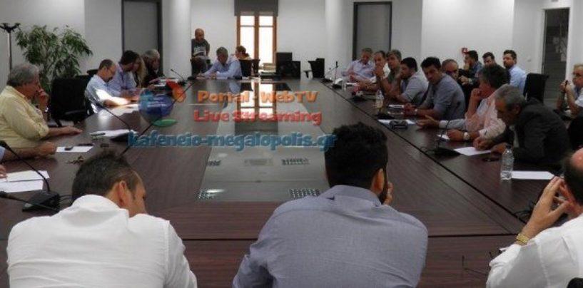 Δημοτικό συμβούλιο στην Μεγαλόπολη την Τετάρτη 1 Μαρτίου με 24 θέματα
